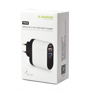 Зарядное устройство Avantree TR603 23W/4.5A 2-Port USB Wall Charger фото 179